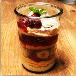 【ファフィたまごのパンケーキg・Plus】イチモニの「SNS映え!グラスに入ったパンケーキ」で紹介されていました  。