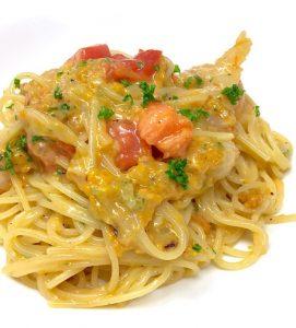 ポポロ広場のとろ〜りウニと海老のスパゲッティ