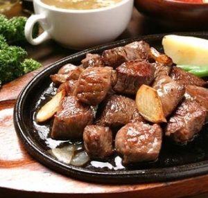 リストランテ ジュナリの国産牛カットステーキ