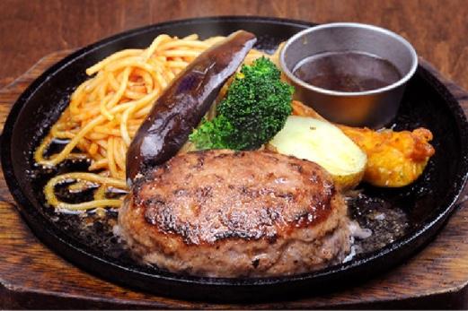 ひげ6条店「粗挽きハンバーグ」
