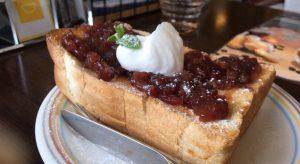 神野喫茶店の「おぐらトースト」