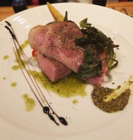 ミートスタンプケントスの「自家製厚切りベーコンのステーキ」