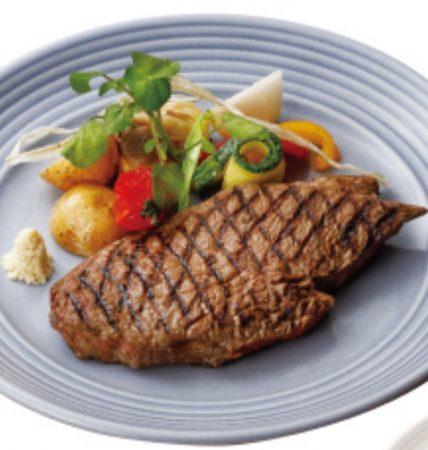 男爵ラウンジの「薪焼き北海道産牛ステーキグリル」