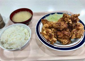 札幌開発総合庁舎のメガザンタレ定食