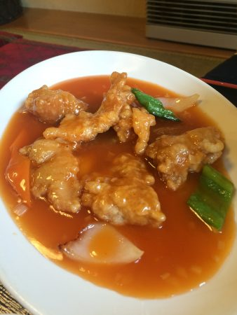 哈爾濱飯店の「酢豚定食」