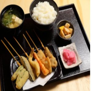 恵美須商店の串揚げ定食