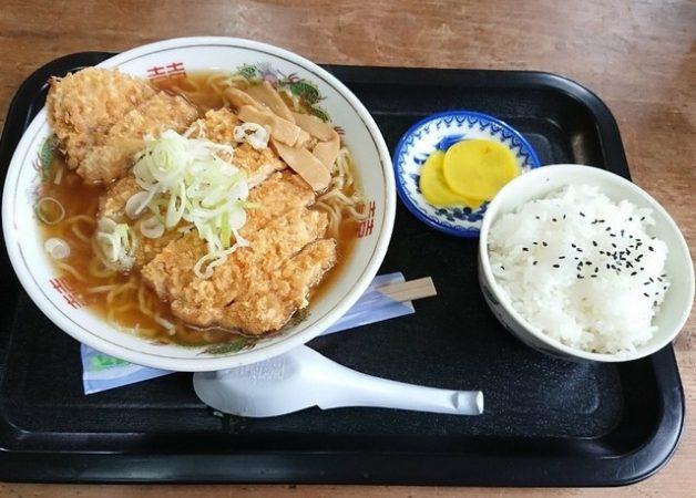 ラーメン蘭の「カツラーメン/醤油」