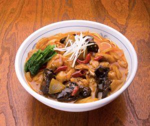 クーロンの鶏のピリ辛麻辣麺