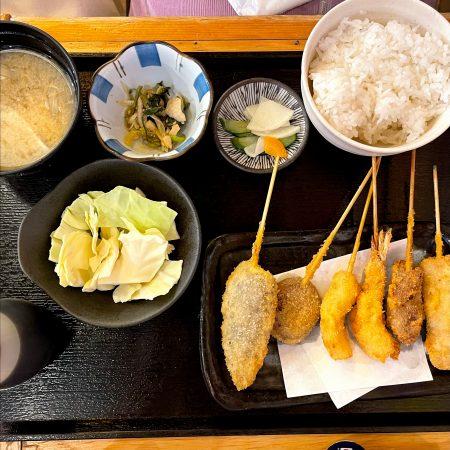 恵比寿商店の串揚げ定食